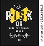 typography slogan with crossed... | Shutterstock .eps vector #1321661615