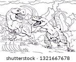 coloring book. funny dinosaur...   Shutterstock .eps vector #1321667678