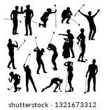 A Set Of Golfer Sports People...