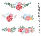 floral mix wreath vector design ... | Shutterstock .eps vector #1321674098