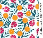 seamless pattern  exotic fruit... | Shutterstock .eps vector #1321678742