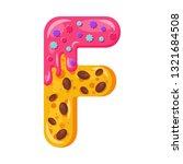 donut cartoon f letter vector... | Shutterstock .eps vector #1321684508