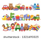 toys pile. groups of children... | Shutterstock .eps vector #1321693325
