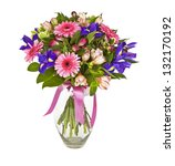 Bouquet Of Pink And Violet...