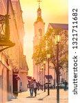 old street of vitebsk at sunset ...   Shutterstock . vector #1321711682