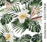 tropical jungle plants  royal... | Shutterstock .eps vector #1321719818