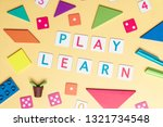 play and learn with colorful... | Shutterstock . vector #1321734548