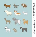 dogs collection. cute cartoon... | Shutterstock .eps vector #1321737545
