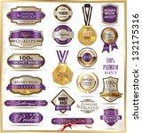 luxury labels | Shutterstock .eps vector #132175316