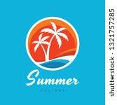 summer holiday   concept... | Shutterstock .eps vector #1321757285