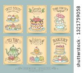 card collection pastries and...   Shutterstock .eps vector #1321759058