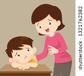 sad alone children wants to... | Shutterstock .eps vector #1321762382