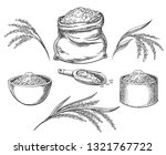 cereal rice. hand drawn grained ... | Shutterstock .eps vector #1321767722