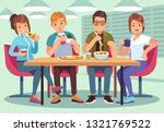 friends cafe. friendly people... | Shutterstock .eps vector #1321769522