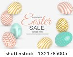abstract easter sale template... | Shutterstock .eps vector #1321785005