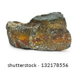 Granite Rufous Stone Isolated...