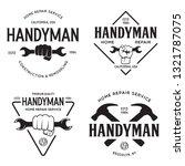 handyman labels badges emblems... | Shutterstock .eps vector #1321787075