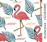 summer seamless pattern with...   Shutterstock .eps vector #1321810385