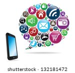 social speech bubble | Shutterstock .eps vector #132181472