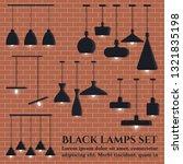 set of modern candinavian style ... | Shutterstock .eps vector #1321835198