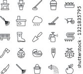 thin line icon set   flower in... | Shutterstock .eps vector #1321835795