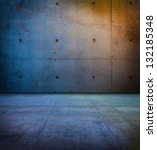 Raw Concrete Space In Sunset...