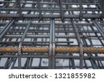 Base for reinforcement. Details from the rebar. Monolithic construction of buildings and structures. - stock photo
