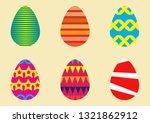 vector set of easter eggs.... | Shutterstock .eps vector #1321862912