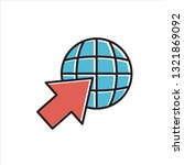web icon in trendy flat style...