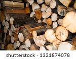 Ends Of Logs Wooden Background. ...