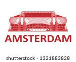 football stadium. amsterdam.... | Shutterstock .eps vector #1321883828