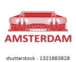 football stadium. amsterdam.... | Shutterstock .eps vector #1321883828