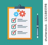 technical support check list... | Shutterstock .eps vector #1321885598