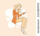 vector illustration in simple... | Shutterstock .eps vector #1321885952