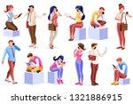 smartphone set of telephone...   Shutterstock . vector #1321886915