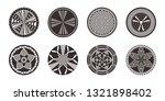 set of african decorative... | Shutterstock .eps vector #1321898402