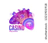 casino logo 2019 place for text ... | Shutterstock .eps vector #1321901918