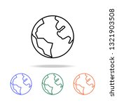earth icon. elements of simple... | Shutterstock .eps vector #1321903508