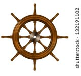 3d Illustration Of A Ship Wheel ...