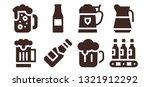 lager icon set. 8 filled lager...   Shutterstock .eps vector #1321912292