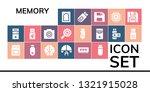 memory icon set. 19 filled... | Shutterstock .eps vector #1321915028