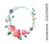 vector flower vignette | Shutterstock .eps vector #1321916255