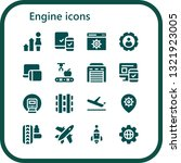 engine icon set. 16 filled...   Shutterstock .eps vector #1321923005