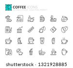 outline icons about coffee.... | Shutterstock .eps vector #1321928885