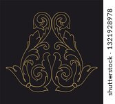 gold ornament baroque style....   Shutterstock .eps vector #1321928978