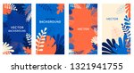 vector set of abstract... | Shutterstock .eps vector #1321941755