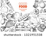organic food illustration.... | Shutterstock .eps vector #1321951538