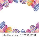 easter eggs cartoon | Shutterstock .eps vector #1321952258