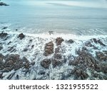 aerial drone image of a rocky... | Shutterstock . vector #1321955522