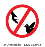 red prohibition sign where the... | Shutterstock .eps vector #1321982915